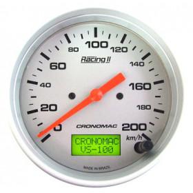 Velocímetro Eletrônico 100mm 200km/h Cronomac - Linha Racing II