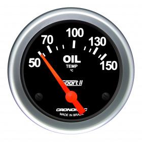 Termômetro Elétrico 60mm de Óleo Cronomac - Linha Sport ll