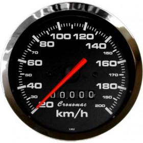 Velocímetro Mecânico 100mm 200km/h Cronomac Cr-Preto