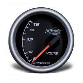 Voltímetro 60mm Elétrico 12V Black Series - Cronomac