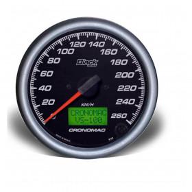 Velocímetro 100mm Eletrônico 260kmh Display Digital BLACK Series - Cronomac
