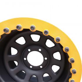 Roda c/ Beadlock modelo DAYTONA BLACK Estilo Mangels 15x8 5 furos de 139,7 - Soldas e balanceamento perfeitos
