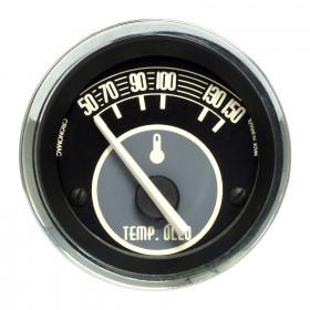 Termômetro de Temperatura do Óleo Cronomac Linha Volks - 52mm / Elétrico / Bege
