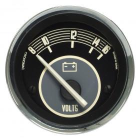 Voltímetro Cronomac Linha Volks 52mm / 12V / Bege