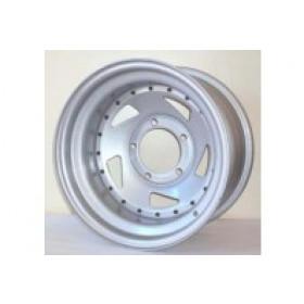 Roda Prata Direcional em Aço 16x7 5 furos de 139,7 para Jeep Willys, Rural, F75, F1000, Niva, Suzuki Samurai / Vitara