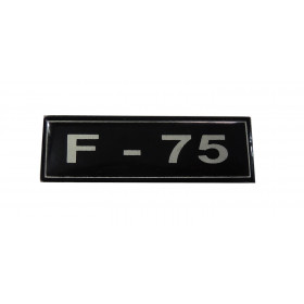 Plaqueta F-75